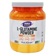 Image of NOW Foods - L-Glutamine Powder 100% Pure - Free Form (1 kg) - 35.3 oz.