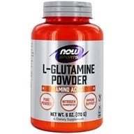 NOW Foods - L-Glutamine Powder 100% Pure - Free Form (170 g) 750 mg. - 6 oz. (733739002204)