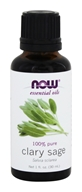 NOW Foods - 100% Pure Essential Oil Clary Sage - 1 fl. oz.
