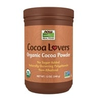 Image of NOW Foods - Cocoa Powder Certified Organic - 12 oz.