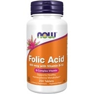 NOW Foods - Folic Acid - 250 Tablets - $3.49