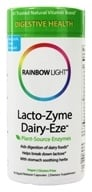 Rainbow Light - Lacto-Zyme Dairy-Eze - 90 Vegetarian Capsules, from category: Nutritional Supplements