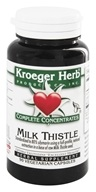 Kroeger Herbs - Complete Concentrate Milk Thistle - 90 Vegetarian Capsules, from category: Herbs
