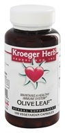 Image of Kroeger Herbs - Herbal Combination Olive Leaf - 100 Vegetarian Capsules