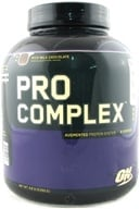 Optimum Nutrition - Pro Complex Augmented Protein System Rich Milk Chocolate - 4.6 lbs.