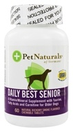 Pet Naturals of Vermont - Daily Best Senior Dog Natural Hickory Smoke Flavored - 60 Chewable Tablets