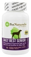 Pet Naturals of Vermont - Daily Best Senior Dog Natural Hickory Smoke Flavored - 60 Chewable Tablets - $9.19