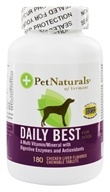 Pet Naturals of Vermont - Daily Best for Dogs Chicken Liver Flavored - 180 Chewable Tablets Formerly Natural Dog Daily by Pet Naturals of Vermont