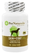 Pet Naturals of Vermont - Skin & Coat Support For Dogs Chicken Flavored Tablets - 60 Tablets - $7.13