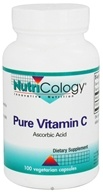Nutricology - Pure Vitamin C Ascorbic Acid - 100 Vegetarian Capsules by Nutricology