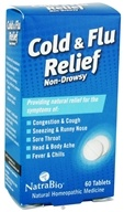 NatraBio - Cold & Flu Relief - 60 Tablets, from category: Homeopathy