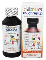 Image of NatraBio - Cough Syrup Children's Cherry Berry - 4 oz.