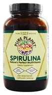 Image of Pure Planet - Premium Spirulina 500 mg. - 200 Vegetarian Capsules