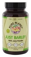 Pure Planet - Just Barley - 180 Vegetarian Capsules