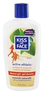 Kiss My Face - Bath & Shower Gel Active Athletic Reviving Birch & Eucalyptus - 16 oz. (028367828365)