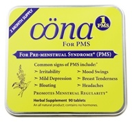Image of Oona - PMS 1 Pre-Menstrual Syndrome - 90 Tablets