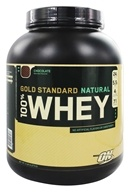 Image of Optimum Nutrition - 100% Whey Gold Standard Natural Protein Chocolate - 5 lbs.
