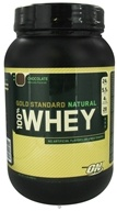 Image of Optimum Nutrition - 100% Whey Gold Standard Natural Protein Chocolate - 2 lbs.