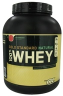 Image of Optimum Nutrition - 100% Whey Gold Standard Natural Protein Strawberry - 5 lbs.