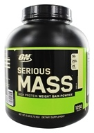 Optimum Nutrition - Serious Mass Vanilla - 6 lbs. (748927023008)