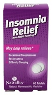 Image of NatraBio - Insomnia Relief - 60 Tablets