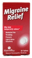 NatraBio - Migraine Relief - 60 Tablets by NatraBio