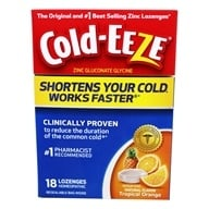Cold-Eeze - Zinc Gluconate Glycine Cold Remedy All Natural Tropical Orange - 18 Lozenges Formerly by Quigley (091108100143)