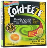 Image of Cold-Eeze - Lozenges Natural Lemon Lime - 18 Lozenges Formerly by Quigley CLEARANCE PRICED