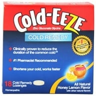 Cold-Eeze - Zinc Gluconate Glycine Cold Remedy All Natural Honey Lemon - 18 Lozenges Formerly by Quigley, from category: Homeopathy