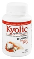 Kyolic - Formula 103 Aged Garlic Extract With Vitamin C, Astragalus, Mushrooms - 100 Capsules - $8.11