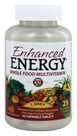 Kal - Enhanced Energy Whole Food Multivitamin Mango Pineapple Flavor - 60 Chewable Tablets by Kal