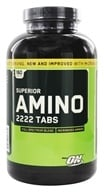 Optimum Nutrition - Superior Amino 2222 Tabs 2222 mg. - 160 Tablets - $8.50