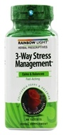 Rainbow Light - 3-Way Stress Management System with California Poppy & Valerian - 90 Tablets by Rainbow Light