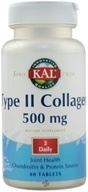 Kal - Type II Collagen 500 mg. - 60 Tablets