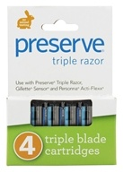 Image of Preserve - Razor Blade Replacement Triple Blade - 4 Cartridge(s)