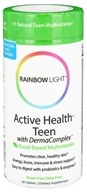 Rainbow Light - Active Health Teen Multivitamin - 30 Tablets by Rainbow Light