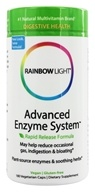 Rainbow Light - Advanced Enzyme System - 180 Vegetarian Capsules, from category: Nutritional Supplements