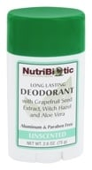 Image of Nutribiotic - Long Lasting Deodorant Unscented - 2.6 oz.