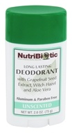 Nutribiotic - Long Lasting Deodorant Unscented - 2.6 oz.