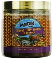 Montana Naturals - Royal Jelly 30,000 In Honey - 11 oz. CLEARANCED PRICED