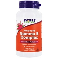 Image of NOW Foods - Advanced Gamma E - 60 Softgels