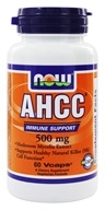 Image of NOW Foods - AHCC 500 mg. - 60 Vegetarian Capsules