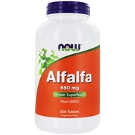 Image of NOW Foods - Alfalfa 10 Grain 650 mg. - 500 Tablets