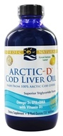 Image of Nordic Naturals - Arctic-D Cod Liver Oil with Vitamin D Lemon - 8 oz.