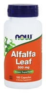 Image of NOW Foods - Alfalfa Leaf Organic, Non-GE 500 mg. - 100 Capsules