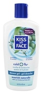Image of Kiss My Face - Bath & Shower Gel Cold & Flu Eucalyptus & Menthol - 16 oz.