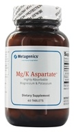Metagenics - Mg/K Aspartate - 60 Tablets, from category: Professional Supplements