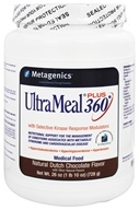 Image of Metagenics - UltraMeal Plus 360 Medical Food Dutch Chocolate - 26 oz.