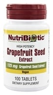 Nutribiotic - GSE Grapefruit Seed Extract 125 mg. - 100 Tablets - $8.93