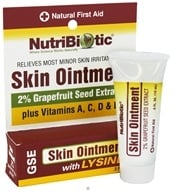 Nutribiotic - GSE Skin Ointment 2% with Lysine - 0.5 oz., from category: Nutritional Supplements